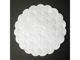 Gläseruntersetzer ø 90 mm rund, 7-lagig Sterne-Punkte-Prägung, Wellenrand