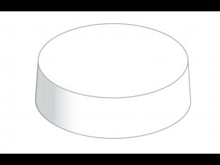 Papier Caps rund Ø 67 mm weiss, aus Mattkarton unbedruckt