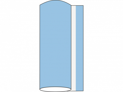Tischläufer Airlaid, 40 cm x 24 lfm, hellblau