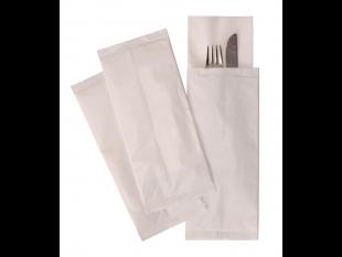 "Bestecktasche, 2-lagig, 38 x 38 cm, weiss ""Buon Appetito"""