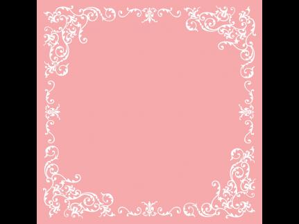 "Tischdecken Airlaid, 80 x 80 cm, 1/8 Falz, ""POMP"" rosa/weiss"