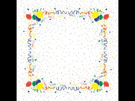 """Tischdecken Airlaid, 80 x 80 cm, 1/8 Falz, """"PARTY"""""""