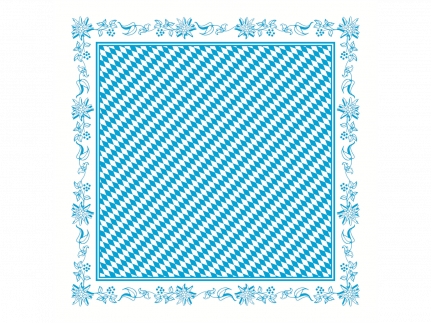 """Tischdecken Airlaid, Pearl-Coating , 80 x 80 cm, 1/8 Falz, """"BAYERN"""" Rauten"""