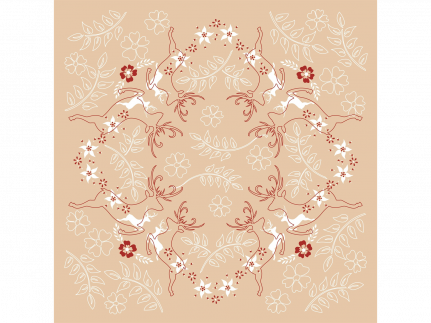 "Tischdecken Airlaid, 80 x 80 cm, 1/8 Falz, ""LEONARD"" beige/bordeaux"