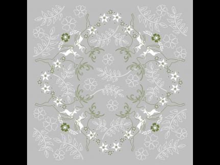 """Tischdecken Airlaid, 80 x 80 cm, 1/8 Falz, """"LEONARD"""" grau/grün"""