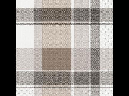 """Servietten Tissue 3-lagig, 33 x 33 cm, 1/4 Falz, """"MARC"""" braun/schwarz"""