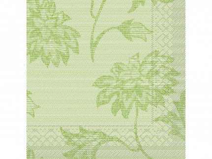 "Servietten Tissue 3-lagig, 33 x 33 cm, 1/4 Falz, ""LISBOA"" schilfgrün"