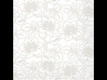 """Servietten Tissue 3-lagig, 33 x 33 cm, 1/4 Falz, """"HEDDA"""" grau"""