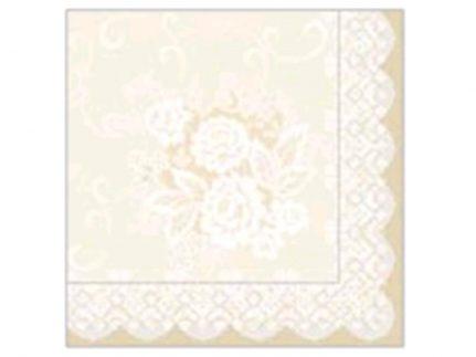 "Servietten Tissue 3-lagig, 33 x 33 cm, 1/4 Falz, ""FRANZISKA"" beige"