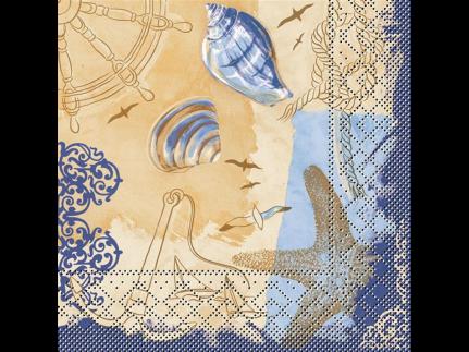 "Servietten Tissue 3-lagig, 33 x 33 cm, 1/4 Falz, ""DEL MAR"""