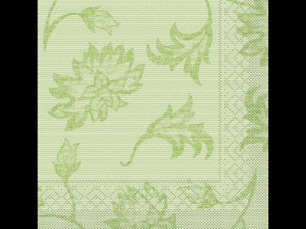 "Servietten Tissue 3-lagig, 40 x 40 cm, 1/4 Falz, ""LISBOA"" schilfgrün"