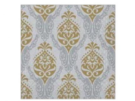 """Servietten Tissue 3-lagig, 40 x 40 cm, 1/4 Falz, """"DORIS"""" gold/silber"""
