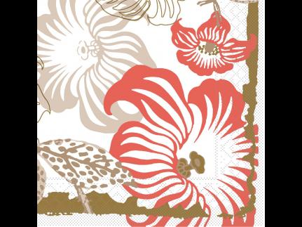 "Servietten Tissue 3-lagig, 40 x 40 cm, 1/4 Falz, ""MARA"" rot/braun"