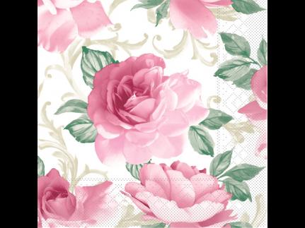 """Servietten Tissue 3-lagig, 40 x 40 cm, 1/4 Falz, """"ROSALIE"""" bordeaux"""