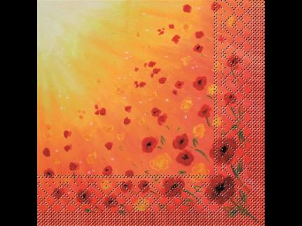 """Servietten Tissue 3-lagig, 40 x 40 cm, 1/4 Falz, """"SOMMERWIESE"""""""